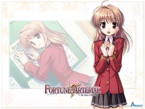 Rating: Safe Score: 11 Tags: bekkankou fortune_arterial school_uniform watermark white yuuki_haruna zoom_layer User: Oyashiro-sama