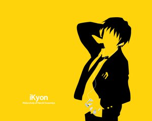 Rating: Safe Score: 19 Tags: all_male ipod kyon male parody silhouette suzumiya_haruhi_no_yuutsu yellow User: Oyashiro-sama