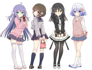 Rating: Safe Score: 62 Tags: amagamine_renna black_hair blue_eyes blue_hair blush bow breast_hold brown_hair green_eyes group iyori_ao kagaya_yuna kitou_ikuyo kneehighs long_hair pantyhose purple_hair red_eyes ren'ai_x_royale school_uniform shirt short_hair sketch skirt thighhighs tie twintails valentine white yellow_eyes yuuki_rika zettai_ryouiki User: otaku_emmy