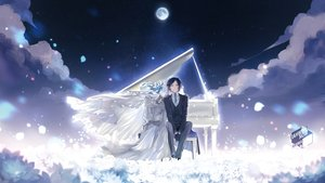Rating: Safe Score: 24 Tags: black_hair blue_eyes bones gloves headdress instrument male moon night original piano rahwia short_hair skull sky stars tie watermark wedding_attire User: sadodere-chan