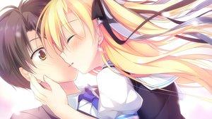 Rating: Safe Score: 2 Tags: alcot blush game_cg kimi_no_tonari_de_koishiteru! kiss motomiya_mitsuki seifuku tagme_(character) User: Wiresetc
