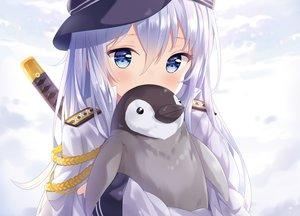 Rating: Safe Score: 162 Tags: animal anthropomorphism cropped hibiki_(kancolle) hitsukuya kantai_collection katana military penguin sword uniform weapon User: luckyluna