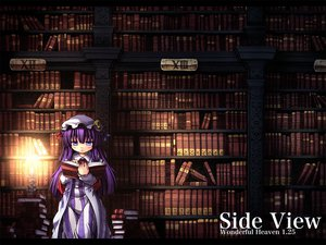 Rating: Safe Score: 35 Tags: blue_eyes book etogami_kazuya hat long_hair patchouli_knowledge purple_hair touhou User: w7382001