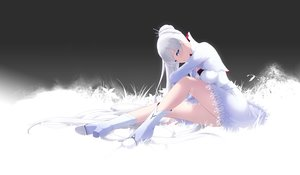 Rating: Safe Score: 110 Tags: aqua_eyes blush boots braids cait dress long_hair ponytail rwby scar weiss_schnee white_hair User: BattlequeenYume