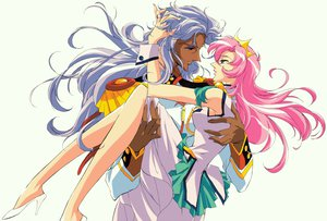 Rating: Safe Score: 17 Tags: blue_eyes dark_skin dress long_hair male ohtori_akio pink_hair revolutionary_girl_utena shoujo_kakumei_utena tenjou_utena User: rayrei