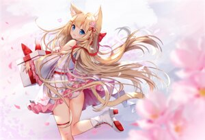 Rating: Safe Score: 31 Tags: ass blonde_hair blue_eyes blush boots bow catgirl cherry_blossoms flowers garter hanazono_serena hanazono_serena_(channel) long_hair panties petals ribbons skirt skirt_lift underwear zhao_(pixiv12947327) User: BattlequeenYume