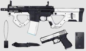 Rating: Safe Score: 23 Tags: gray gun knife nagishiro_mito nobody original phone polychromatic weapon User: otaku_emmy