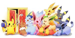 Rating: Safe Score: 74 Tags: azuma_minatsu eevee espeon flareon glaceon hat jolteon leafeon pikachu pokemon sylveon umbreon vaporeon User: FormX