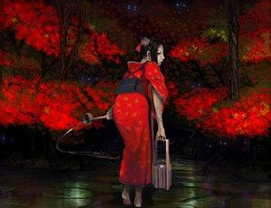 Rating: Safe Score: 68 Tags: autumn black_hair demon japanese_clothes kimono kyan-dog leaves original red tattoo User: SonicBlue