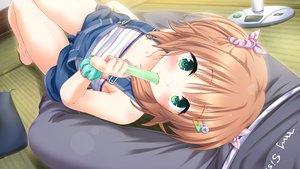 Rating: Safe Score: 99 Tags: blush brown_hair game_cg green_eyes loli onii-chan_kiss_no_junbi_wa_mada_desu_ka? popsicle sakura_misaki_(artist) seguchi_saya short_hair User: TohruKobayashi1