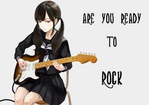 Rating: Safe Score: 40 Tags: ashiya_hiro brown_hair guitar instrument long_hair original red_eyes seifuku skirt twintails User: otaku_emmy