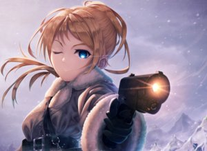 Rating: Safe Score: 61 Tags: ayase_eri gun kokkeina_budou love_live!_school_idol_project weapon User: FormX