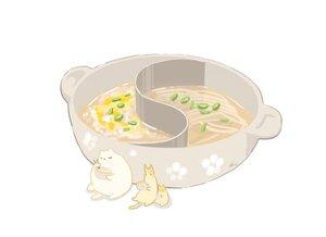 Rating: Safe Score: 26 Tags: animal cat chai_(artist) food nobody original polychromatic signed white User: otaku_emmy