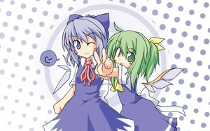 Rating: Safe Score: 12 Tags: 2girls cirno daiyousei fairy touhou User: Oyashiro-sama