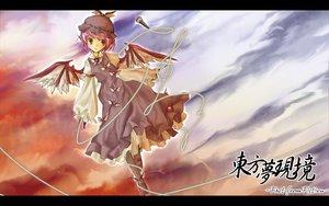 Rating: Safe Score: 26 Tags: animal_ears clouds dress gray_eyes hat mystia_lorelei pink_hair short_hair touhou wings User: Oyashiro-sama