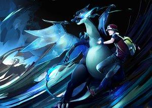 Rating: Safe Score: 70 Tags: charizard mega_charizard_x pokemon red_(pokemon) tribute User: C4R10Z123GT