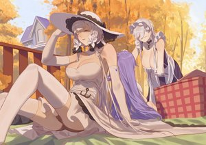 Rating: Safe Score: 68 Tags: anthropomorphism azur_lane belfast_(azur_lane) breasts chain cleavage collar elbow_gloves garter_belt gloves hat headdress hms_unicorn_(azur_lane) illustrious_(azur_lane) long_hair panties purple_hair red_cucumber stockings thighhighs underwear white_hair User: RyuZU
