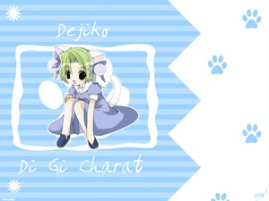 Rating: Safe Score: 1 Tags: animal_ears blue catgirl dejiko di_gi_charat green_hair hat koge_donbo User: valeria_chan_al