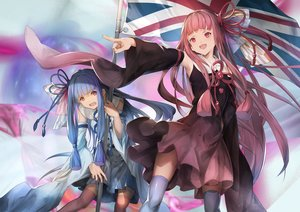 Rating: Safe Score: 24 Tags: 2girls aliasing aqua_hair dress kotonoha_akane kotonoha_aoi pink_hair red_eyes ribbons tagme_(artist) thighhighs twins voiceroid User: luckyluna