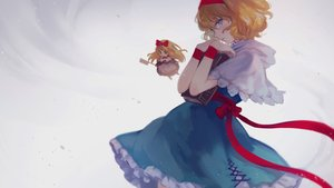 Rating: Safe Score: 42 Tags: alice_margatroid aqua_eyes blonde_hair book bow doll dress headband k_(sktchblg) ribbons shanghai_doll short_hair touhou User: RyuZU