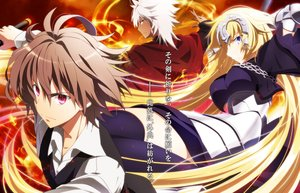 Rating: Safe Score: 17 Tags: armor blonde_hair brown_hair chain elbow_gloves fate/apocrypha fate_(series) gloves headphones jeanne_d'arc_(fate) long_hair male pochi-a purple_eyes shirou_kotomine short_hair sieg_(fate/apocrypha) white_hair yellow_eyes User: RyuZU