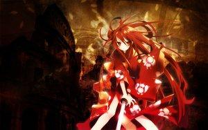 Rating: Safe Score: 21 Tags: japanese_clothes katana red_eyes red_hair shakugan_no_shana shana sword weapon User: Oyashiro-sama