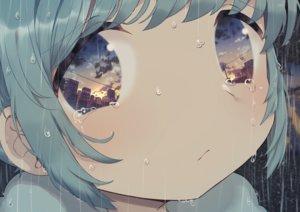 Rating: Safe Score: 86 Tags: aqua_hair building city close clouds niizuka_(c-drop) original rain reflection short_hair sky sunset tears water User: otaku_emmy