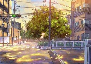 Rating: Safe Score: 42 Tags: building city clouds niko_p original scenic sky sunset tree User: RyuZU