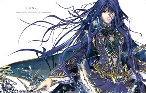 Rating: Safe Score: 45 Tags: blue_hair dress kyungup_hyun luna_(makkoya) white User: Oyashiro-sama