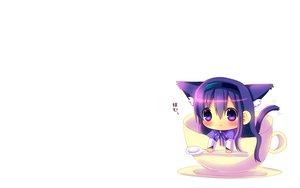 Rating: Safe Score: 82 Tags: akemi_homura animal_ears blush catgirl cat_smile chibi hina_hina mahou_shoujo_madoka_magica purple_eyes purple_hair tail white User: SciFi