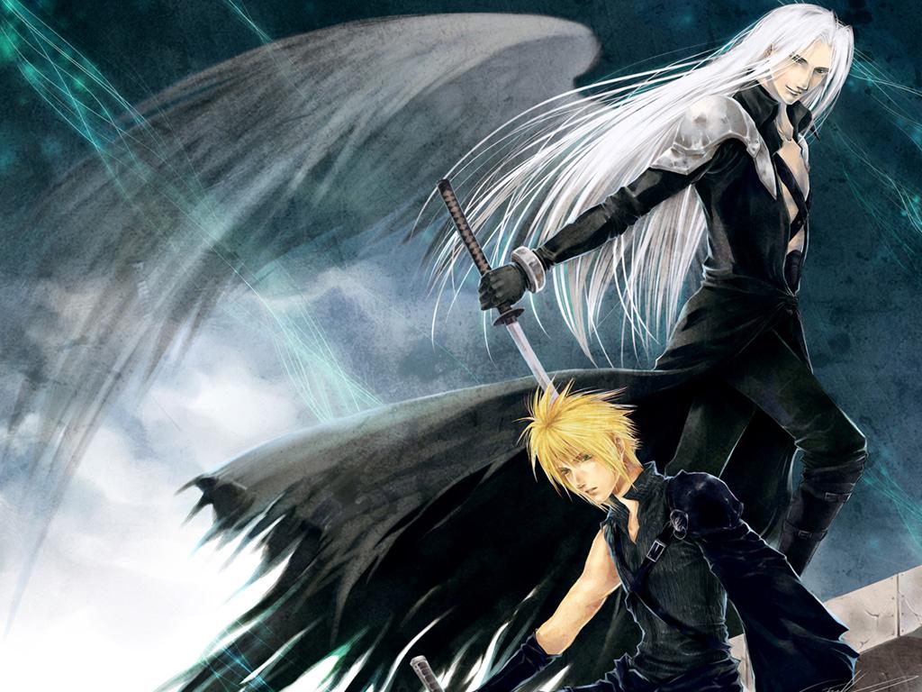 cloud_strife final_fantasy final_fantasy_vii sephiroth