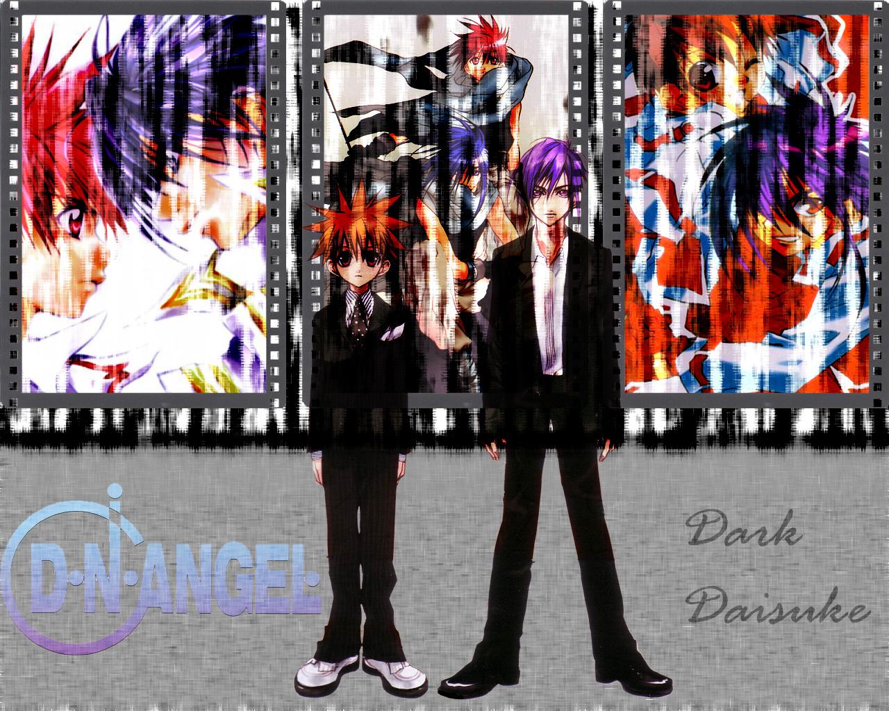 all_male dark_mousy dnangel male niwa_daisuke purple_hair red_eyes red_hair sugisaki_yukiru tie