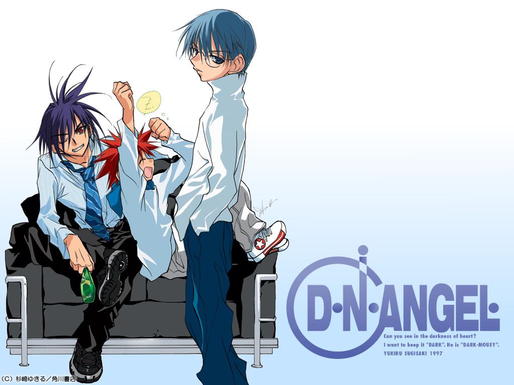 dark_mousy dnangel hiwatari_satoshi niwa_daisuke red_hair sugisaki_yukiru tie white wink