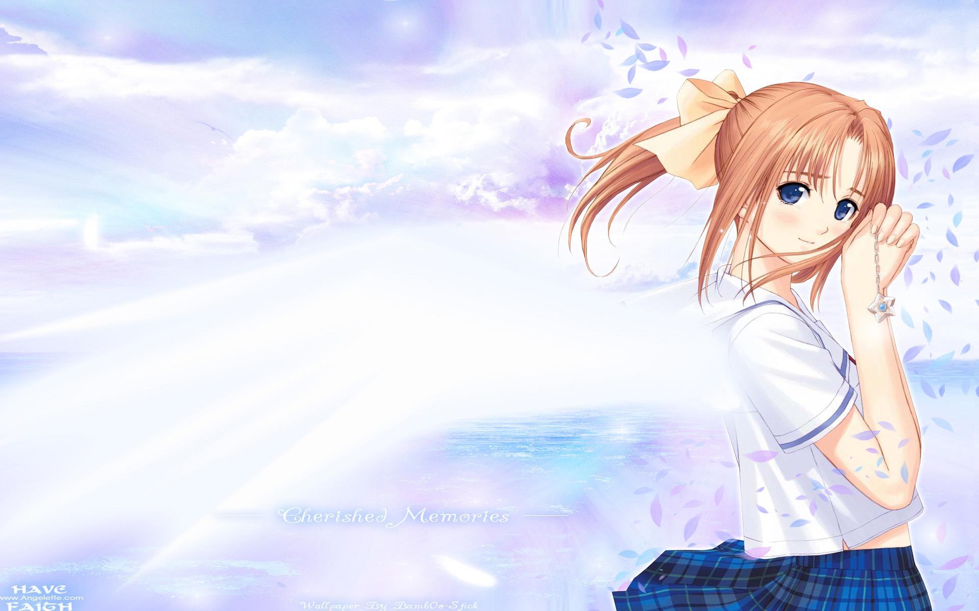 after after_sweet_kiss blue_eyes necklace orange_hair ponytail school_uniform shiomiya_kanami taka_tony