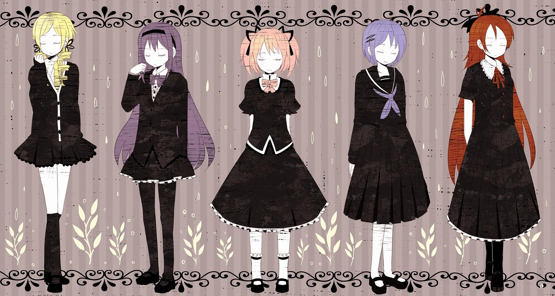akemi_homura kaname_madoka mahou_shoujo_madoka_magica miki_sayaka sakura_kyouko tomoe_mami