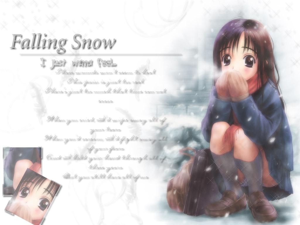 brown_eyes brown_hair goto_p kneehighs scarf school_uniform skirt snow winter