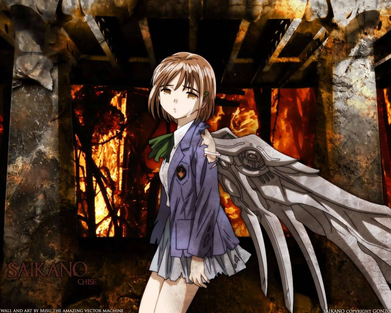 brown_eyes brown_hair chise saikano saishuu_heiki_kanojo school_uniform wings