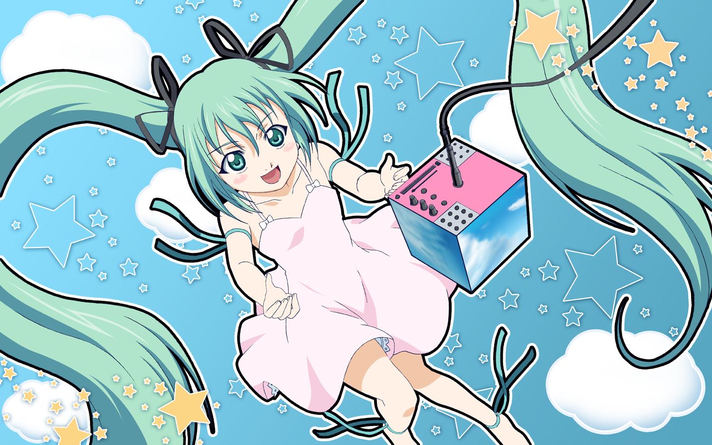 dress hatsune_miku twintails vocaloid