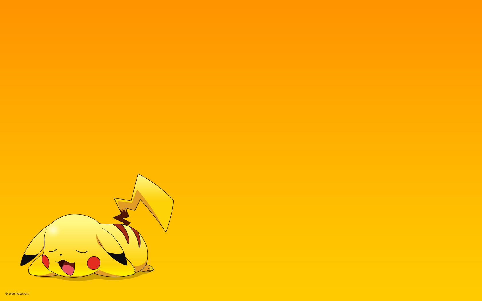 orange pikachu pokemon yellow
