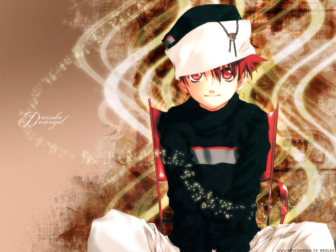 all_male dnangel hat male niwa_daisuke red_eyes red_hair sugisaki_yukiru