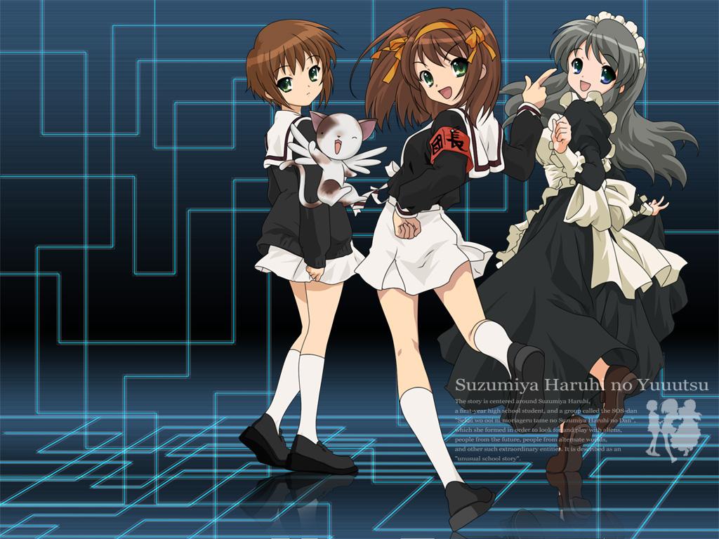 asahina_mikuru card_captor_sakura cosplay crossover kero nagato_yuki suzumiya_haruhi suzumiya_haruhi_no_yuutsu