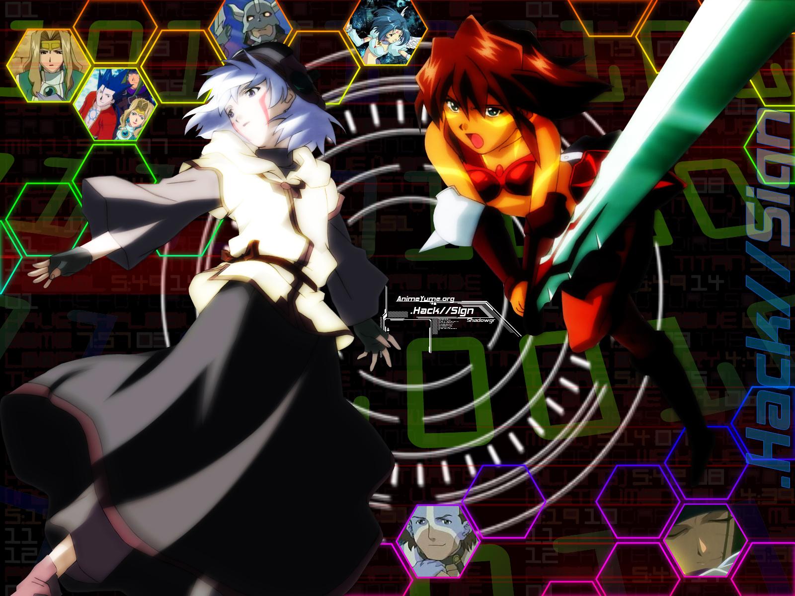 .hack// .hack//sign bear_(.hack//) bt crim mimiru silver_knight sora_(.hack//) subaru tsukasa
