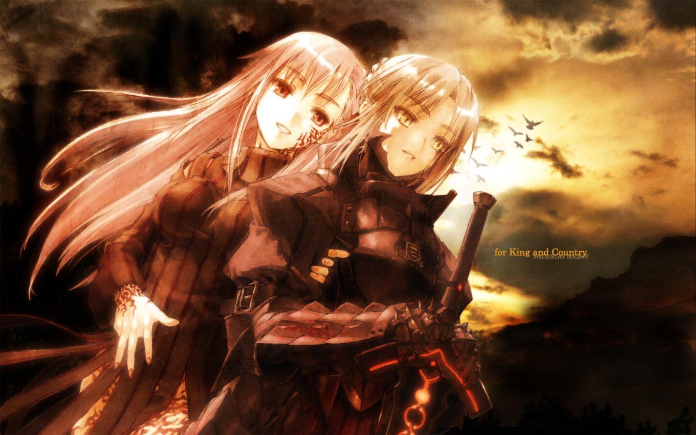 armor artoria_pendragon_(all) dark_matou_sakura fate/hollow_ataraxia fate_(series) fate/stay_night matou_sakura saber saber_alter sword weapon