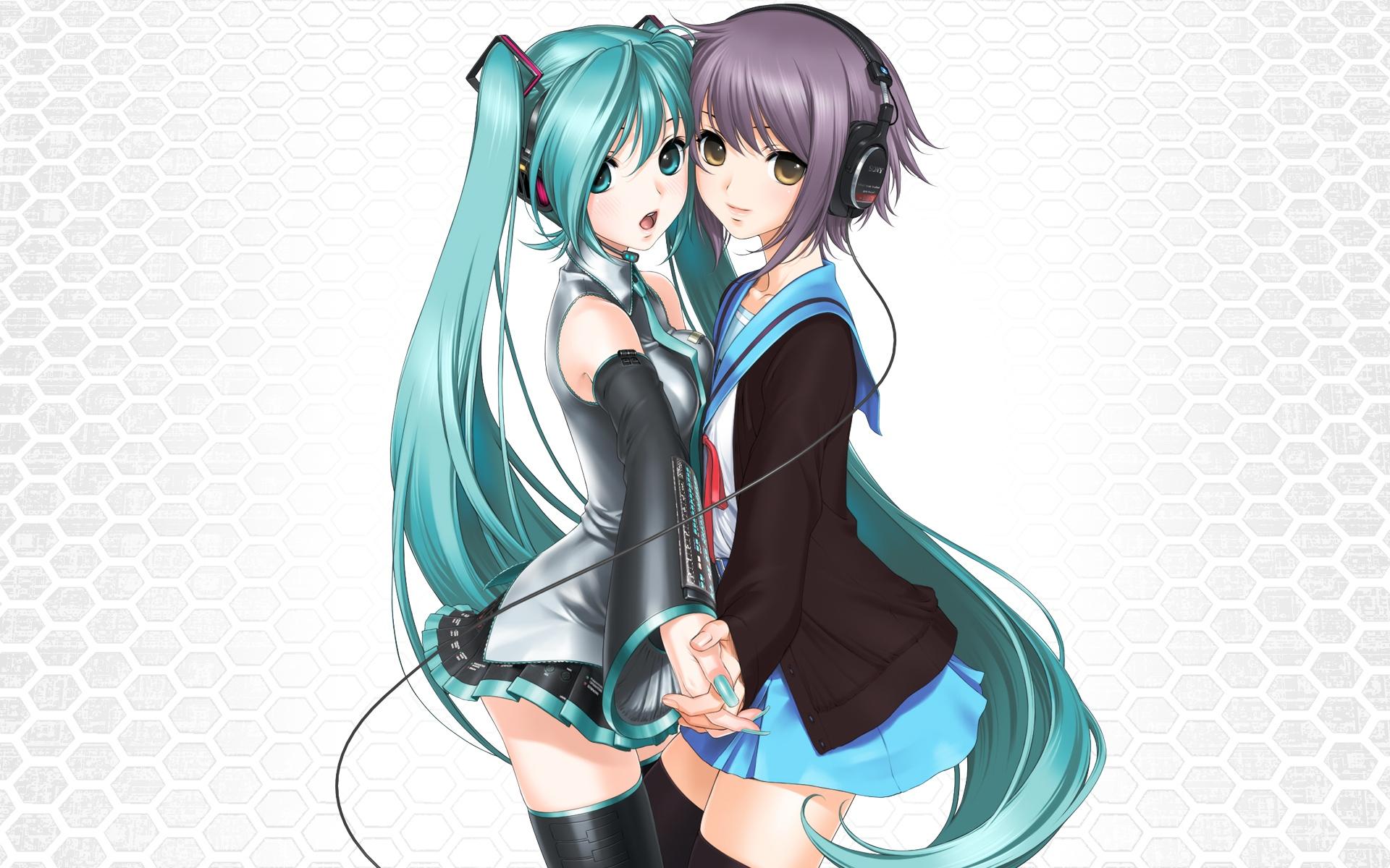 Haruhi and nagato hentai 3d lesbian sex adult tube