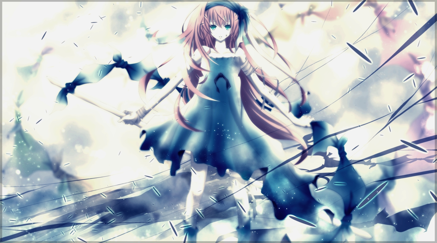 aonoe clouds dress megurine_luka vocaloid