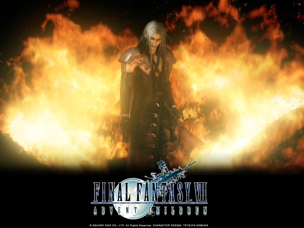 final_fantasy final_fantasy_vii final_fantasy_vii_advent_children fire sephiroth