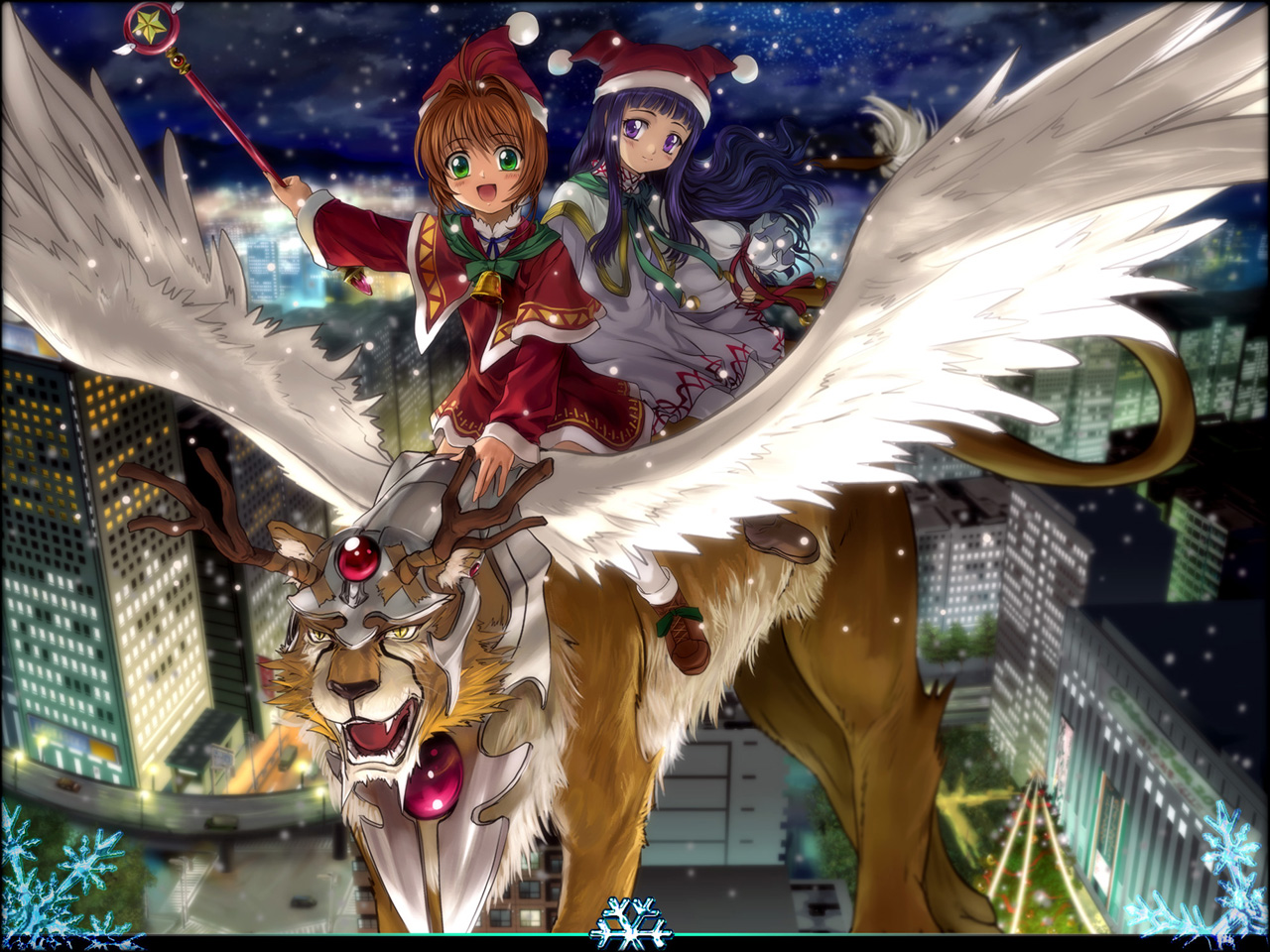 card_captor_sakura christmas daidouji_tomoyo kerberos kero kinomoto_sakura moonknives