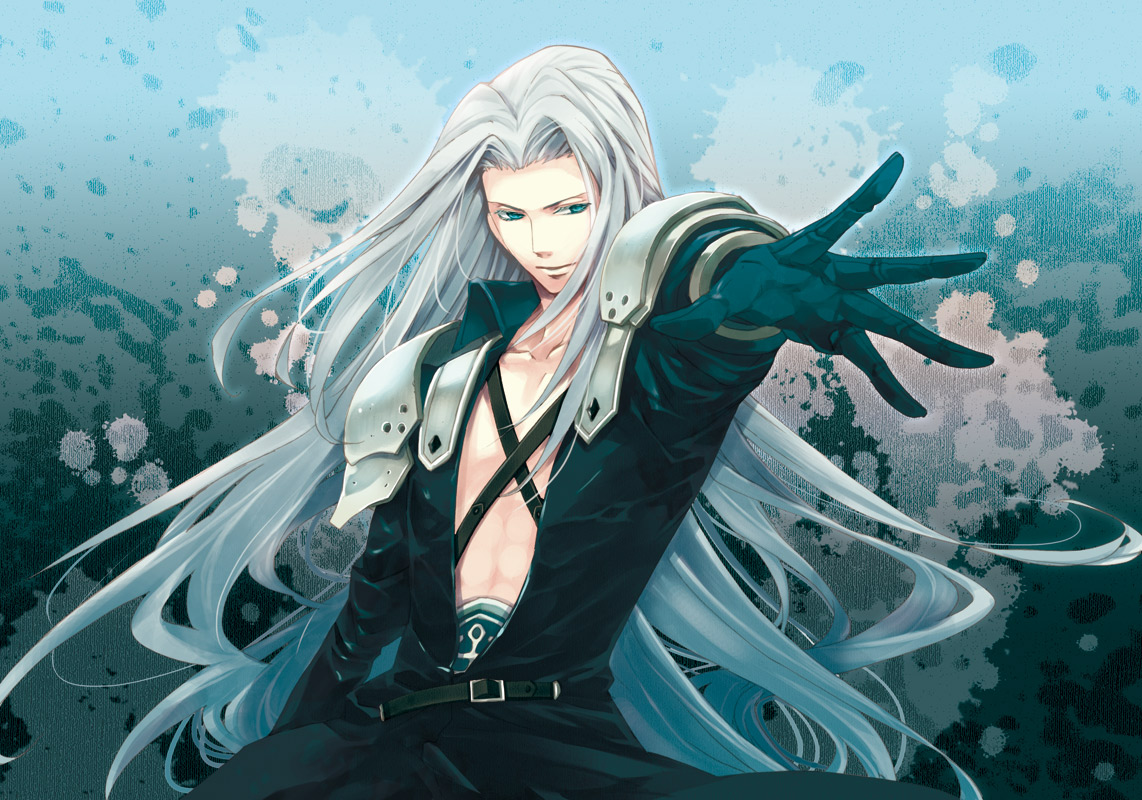 blue_eyes final_fantasy final_fantasy_vii long_hair sephiroth