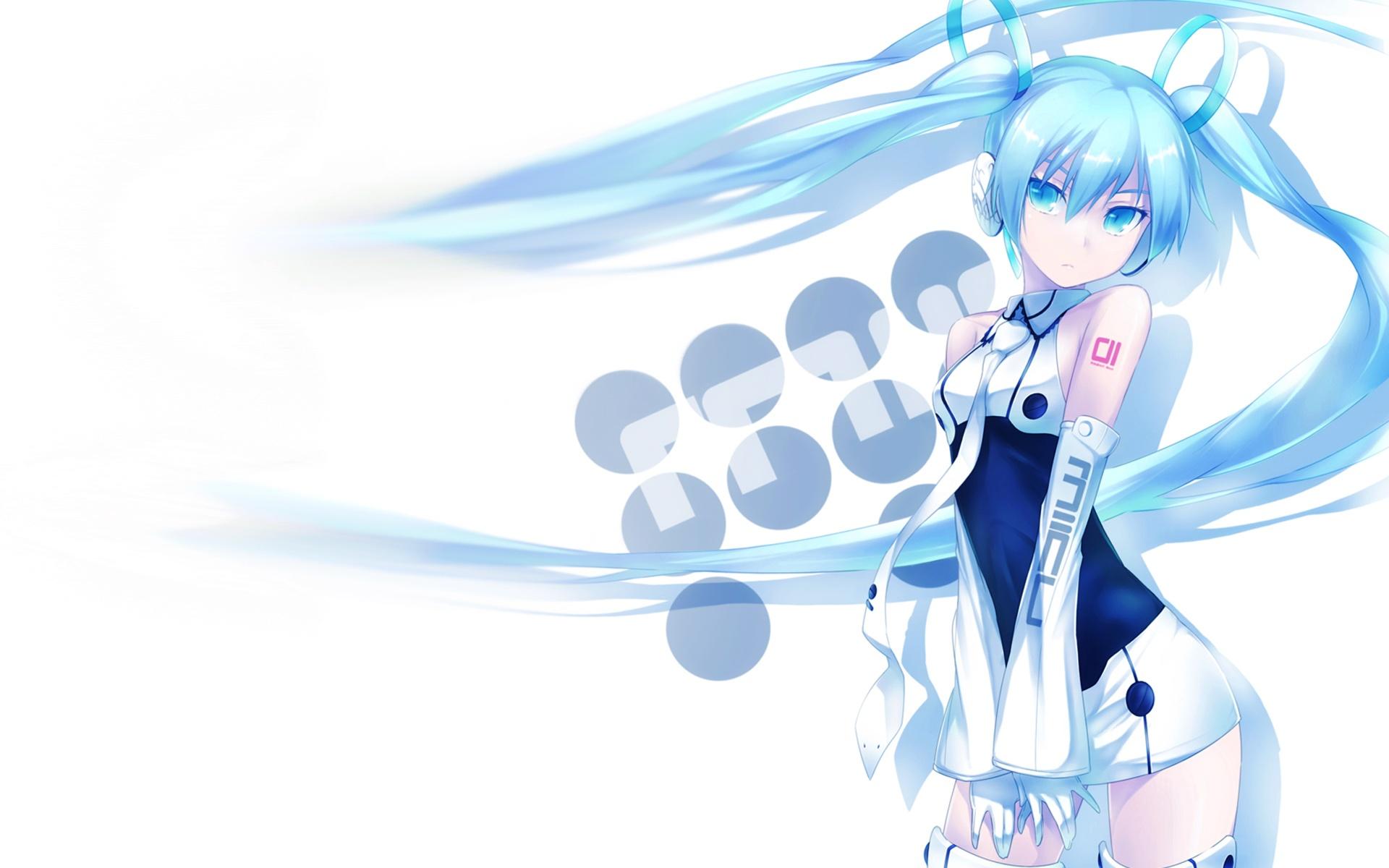 hatsune_miku nanakusa_amane vocaloid white