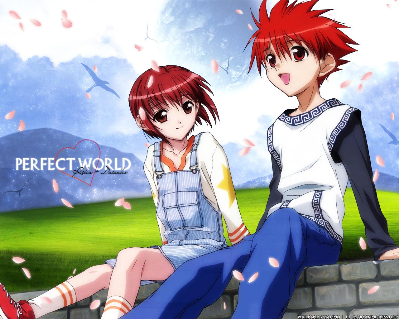 dnangel harada_riku niwa_daisuke petals red_eyes red_hair